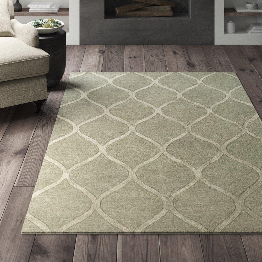 Greyleigh Bronaugh Geometric Handmade Tufted Gray Area Rug Reviews Wayfair
