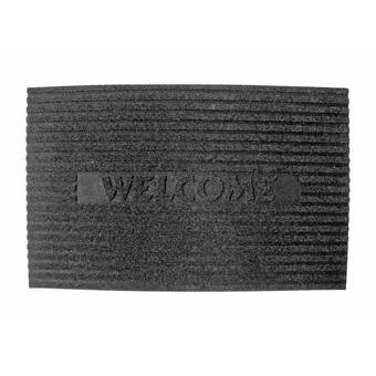 Evideco Sheltered Printed Welcome Braided Coir Coco Rubber 30 In X 18 In Outdoor Door Mat Wayfair