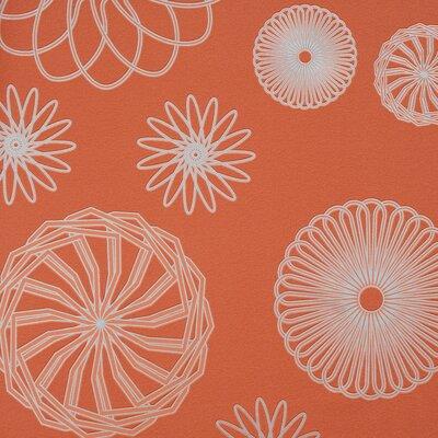 "Walls Republic Cluster 32.97"" x 20.8"" Geometric Wallpaper Colour: Orange"