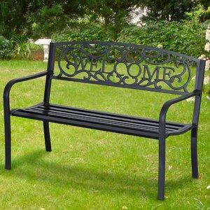 2-Sitzer Gartenbank aus Metall von Outsunny