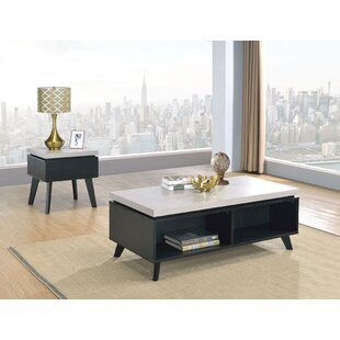 Hillard Coffee Table with Tray Top and Storage by Wrought Studio