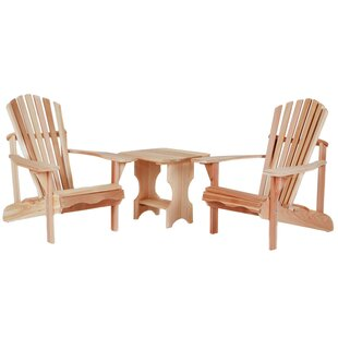 Western Red Cedar 3 Piece Conversation Set