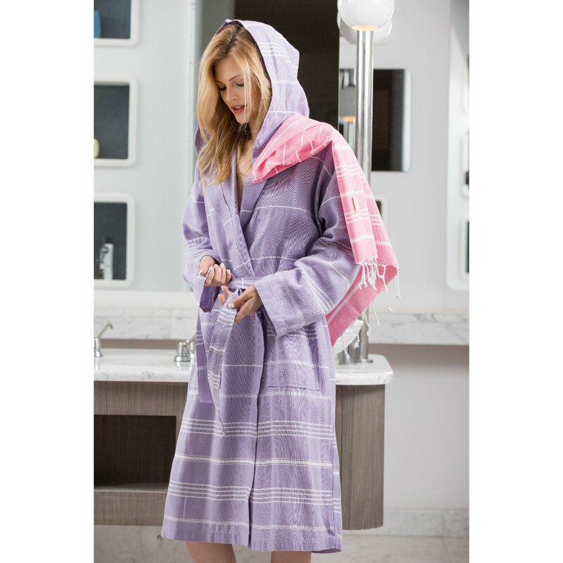 Cotton & Olive Trendy Peshtemal Dressing Gown | Wayfair.co.uk