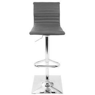 Cadoz Adjustable Height Swivel Bar Stool by Wade Logan