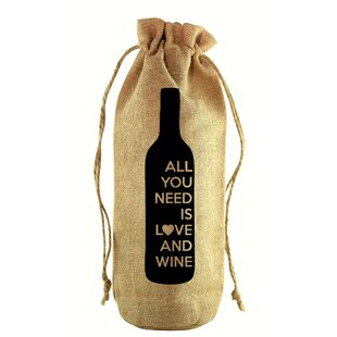 All You Need Is Jute Wine Bottle Sack