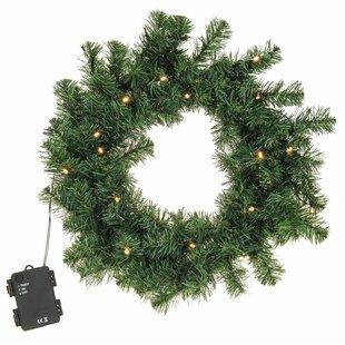 40cm Lighted Fir Christmas Wreath By The Seasonal Aisle