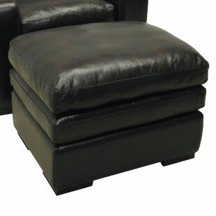 Wildon Home ® Leather Ottoman