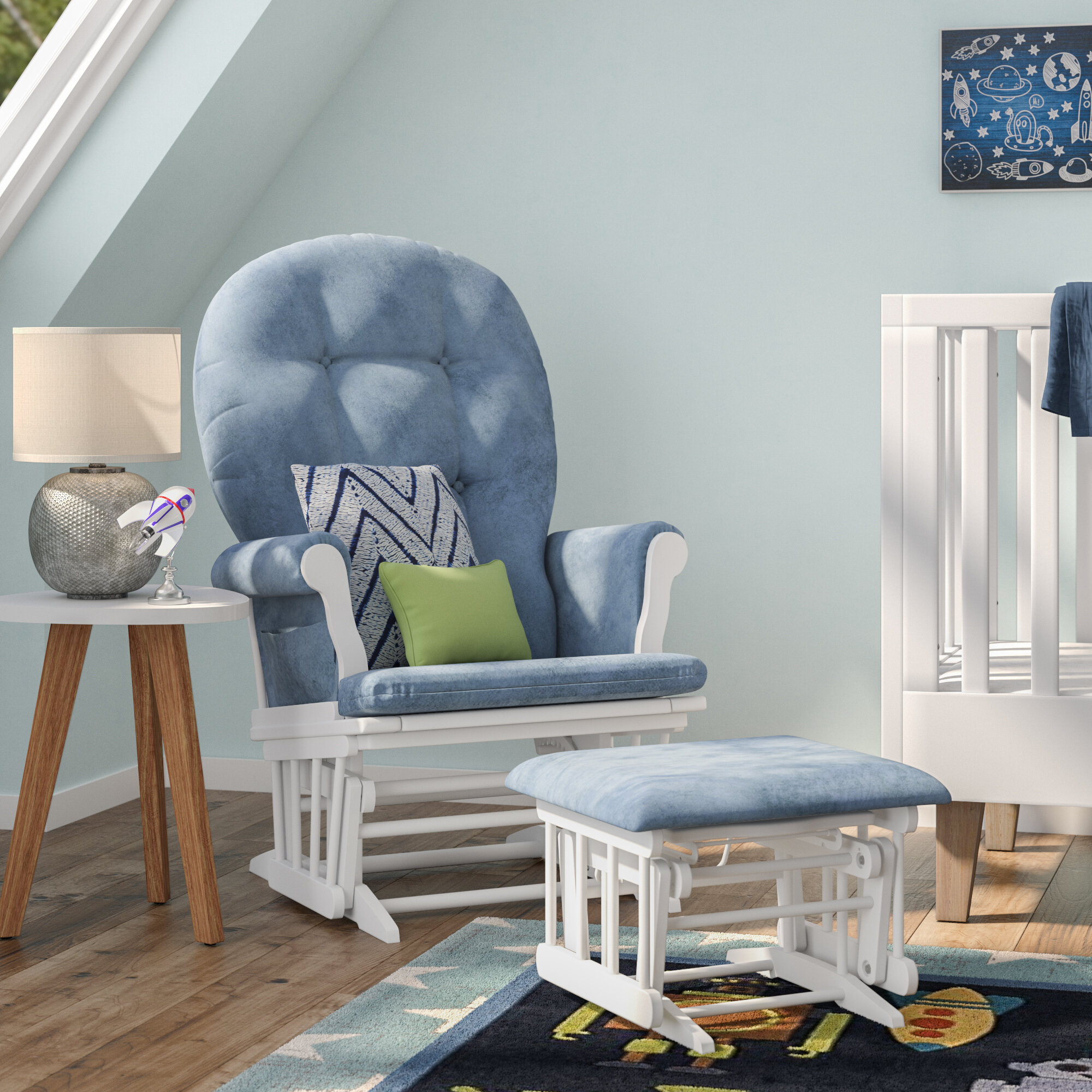 Image of: Nursery Gliders Rockers Recliners Up To 60 Off Through 12 04 Wayfair