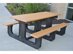 Frog Furnishings Park Place Recycled Plastic Picnic Table