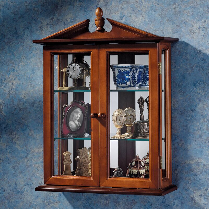 Superb Amesbury Manor Wall Mounted Curio Cabinet