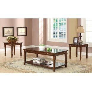 Charlton Home Tilbury Coffee and End Table Set (Set of 3)