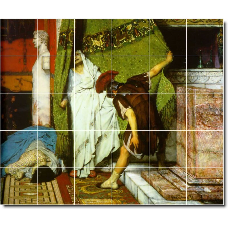 Picture Tiles Com 18 X 24 Ceramic Lawrence Alma Tadema Still Life Painting Decorative Mural Tile 183 6 X 6 Set Of 12 Wayfair