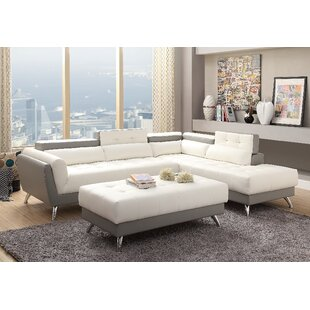 Bache Right Hand Facing Sectional with Ottoman