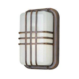 Hintz 1-Light Outdoor Bulkhead Light By Wrought Studio Outdoor Lighting