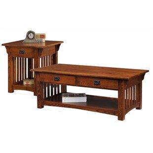 Loon Peak Brockton 3 Piece Coffee Table Set