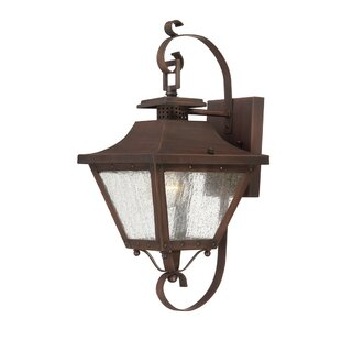 Compare prices Berryman Outdoor Wall Lantern By Fleur De Lis Living