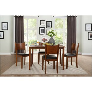 Barbieri Transitional Dinette 5 Piece Solid Wood Dining Set