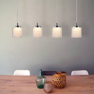 Boley 4-Light LED Cluster Pendant by Orren Ellis