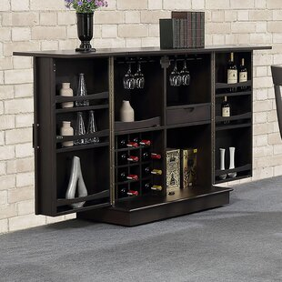ECI Furniture Rum Point Expandable Bar with Wine Storage