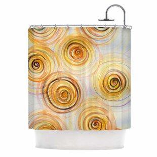 'Spirals' Single Shower Curtain