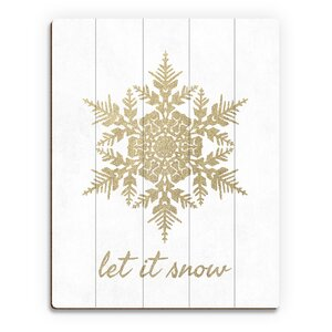 'Let it Snow in Sand' Graphic Art on Plaque