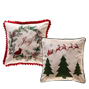 Surprising Hosea Cardinal Joy And Santa Pass By Christmas Tree Indoor Outdoor Velvet Throw Pillow Cover Customarchery Wood Chair Design Ideas Customarcherynet