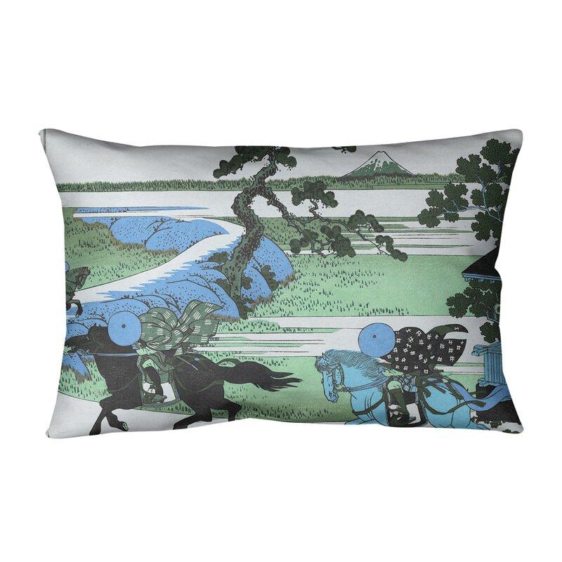 East Urban Home Katsushika Hokusai Sekiya Village At Sumida River Cotton Lumbar Pillow Wayfair