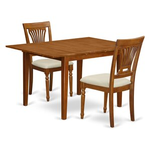 Milan 3 Piece Dining Set by East West Fur..