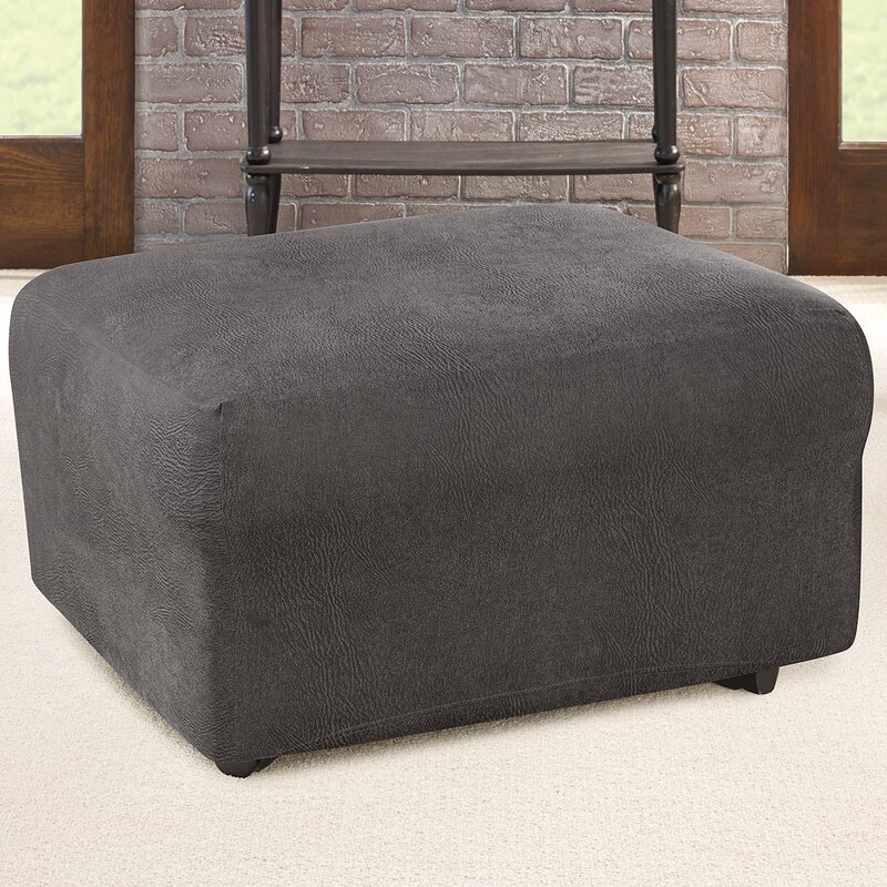 Sure Fit Ultimate Stretch Box Cushion Ottoman Slipcover Reviews Wayfair