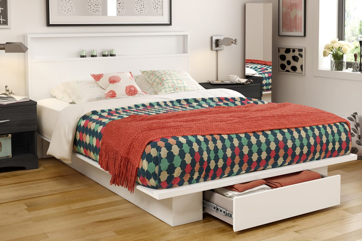 Queen platform bed frame - Holland Queen Platform Bed
