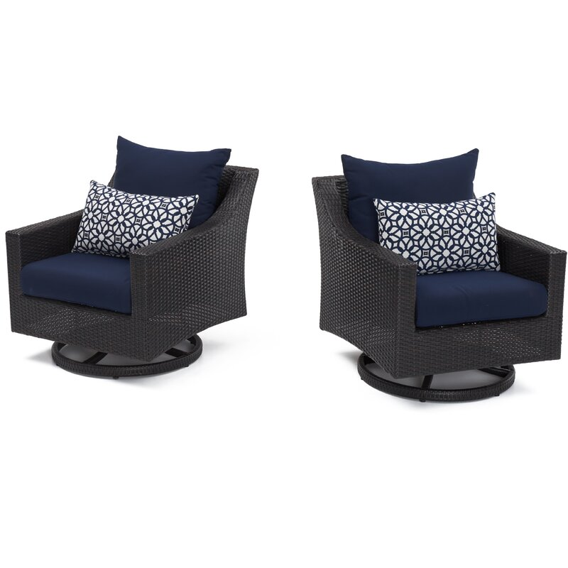 Navy Blue LUXE BASICS Cover Me Glider Chair Cover