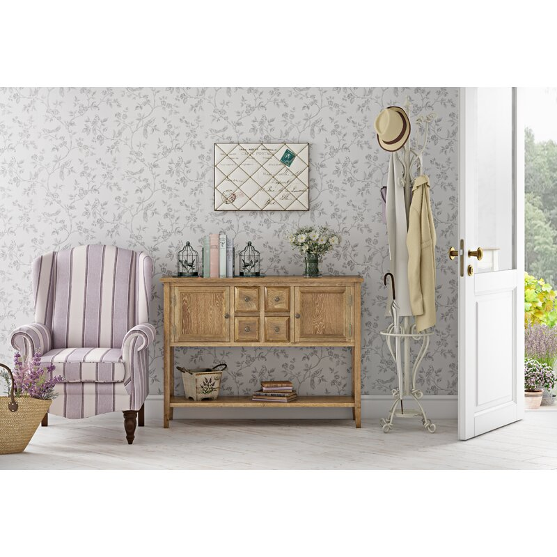 Lark Manor Sadie Rustic Console Table in Casual Country Styled Home
