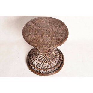 Youati Rattan Hand-Woven End Table by Bloomsbury Market