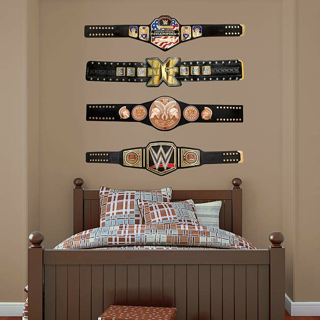 Merveilleux WWE Title Belts Peel And Stick Wall Decal