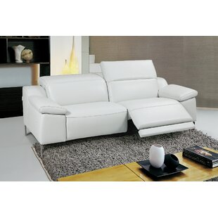 Shop Dionne Leather Reclining Loveseat by Orren Ellis