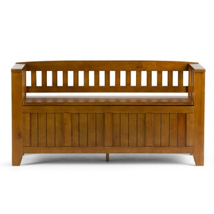 Acadian Wood Storage Bench By Simpli Home