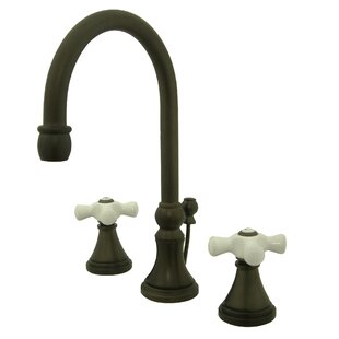 Madison Widespread Bathroom Faucet with Double Porcelain Cross Handles By Elements of Design