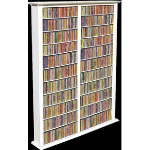 Large Double Multimedia Storage Rack By Rebrilliant