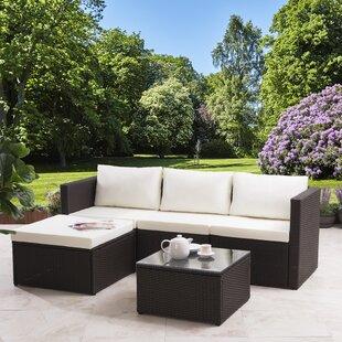 Colleen 4 Seater Rattan Corner Sofa Set By Zipcode Design