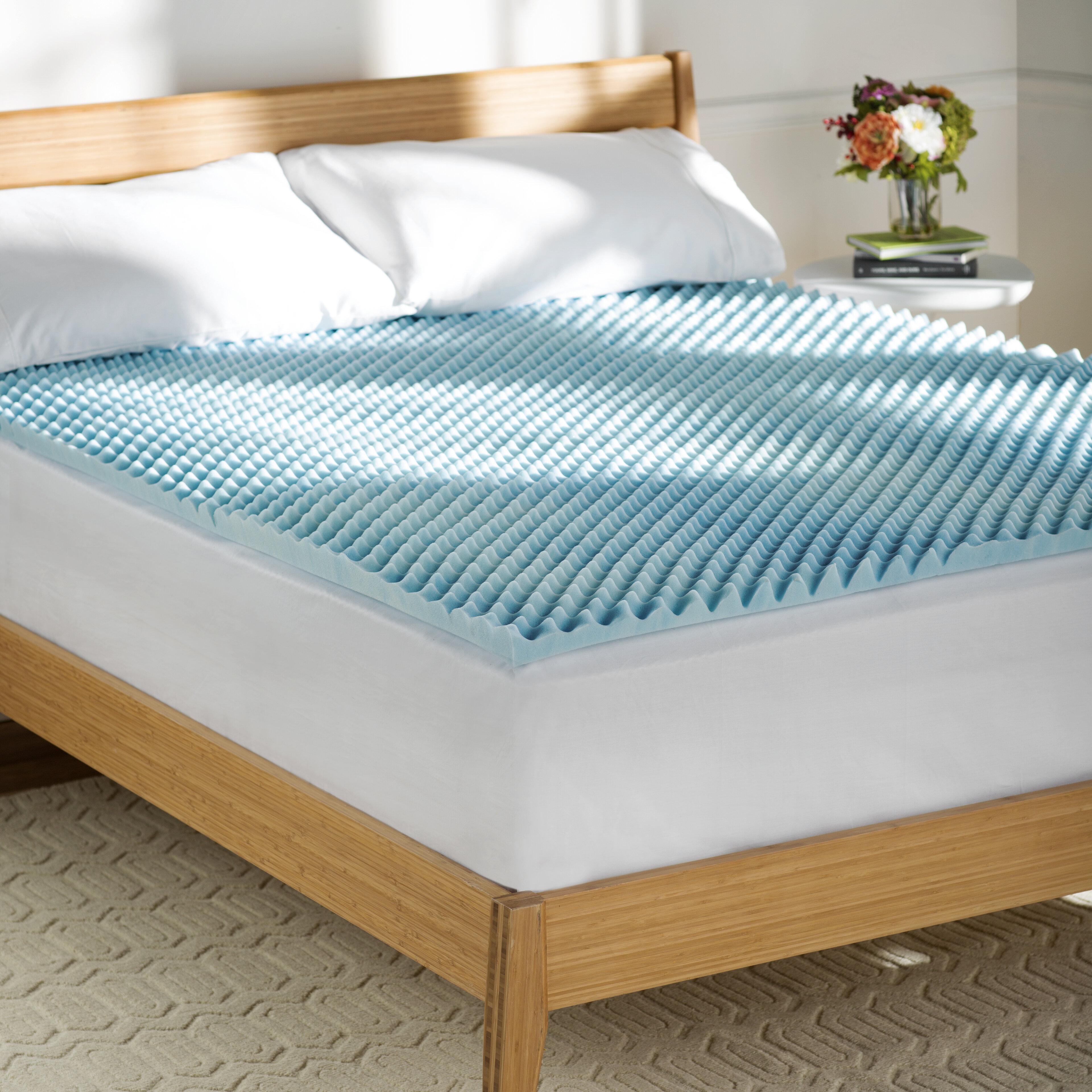 reviews foam basics mattress topper bath pad memory textured gel pdx wayfair bed