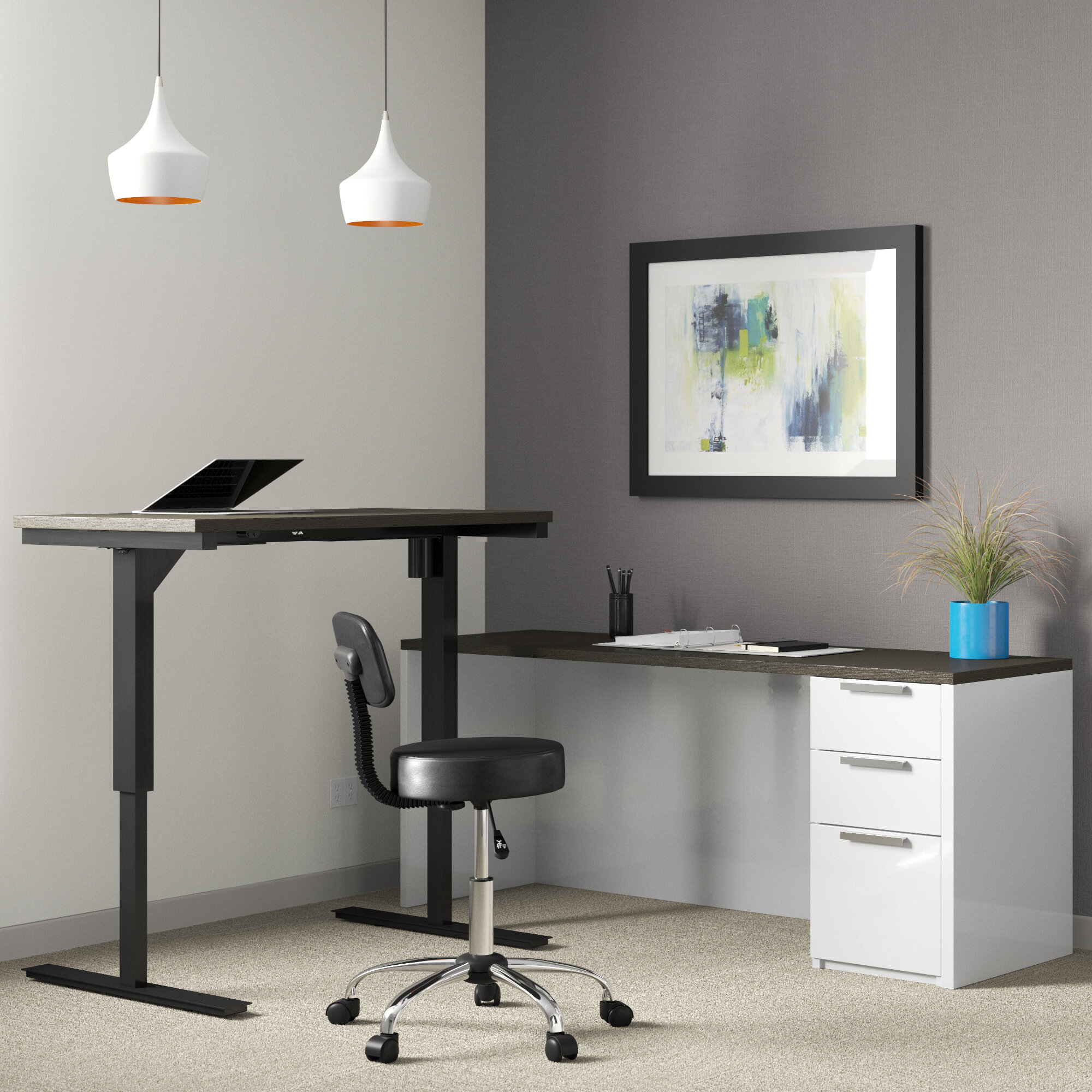Upper Square Kadian Contemporary Corner Desk Reviews Wayfair