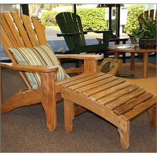 Oneill Lakeside Teak Adirondack Chair with Ottoman by Rosecliff Heights