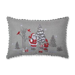 Snider Santa Christmas Scene Lumbar Pillow