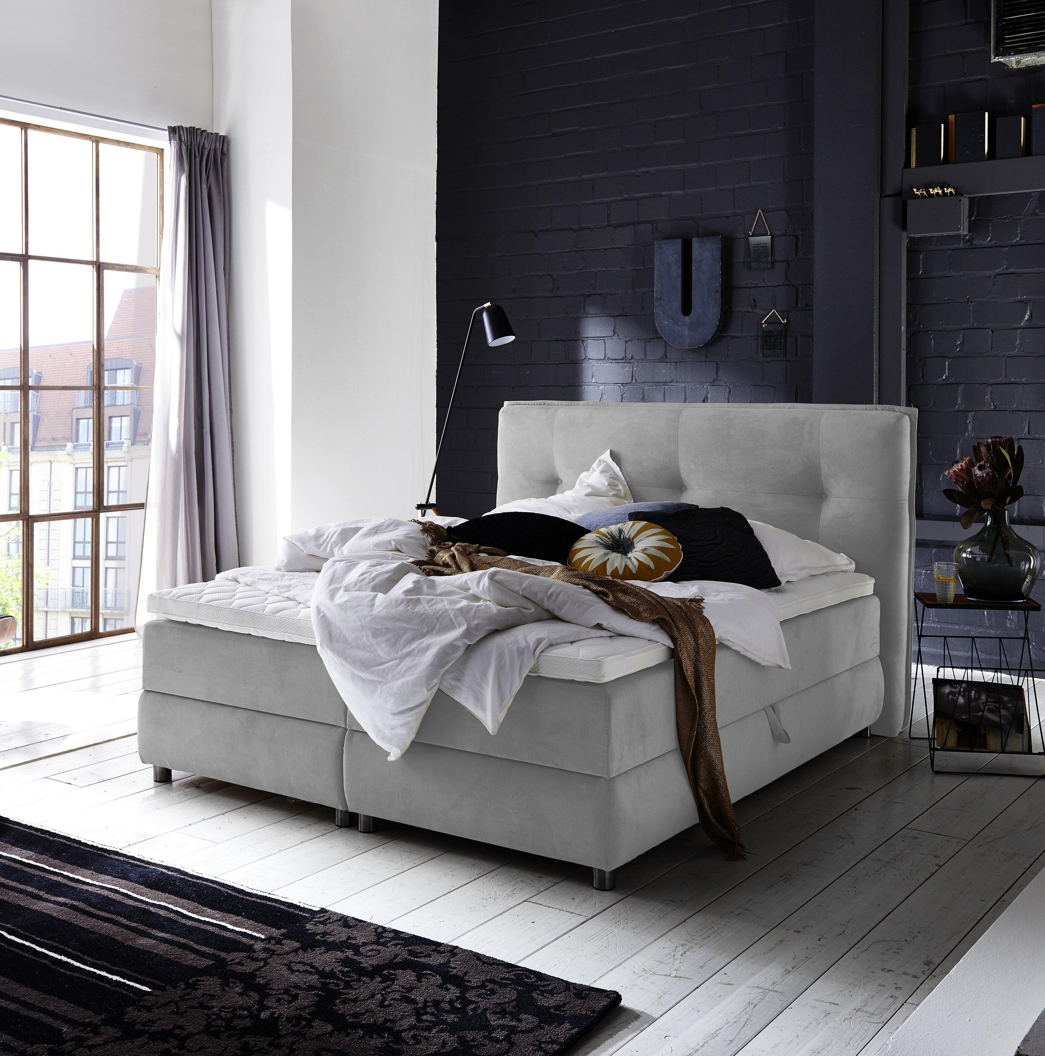 Boxspring bett home design  Atlantic Home Collection Boxspringbett Tilo mit Topper   Wayfair.de