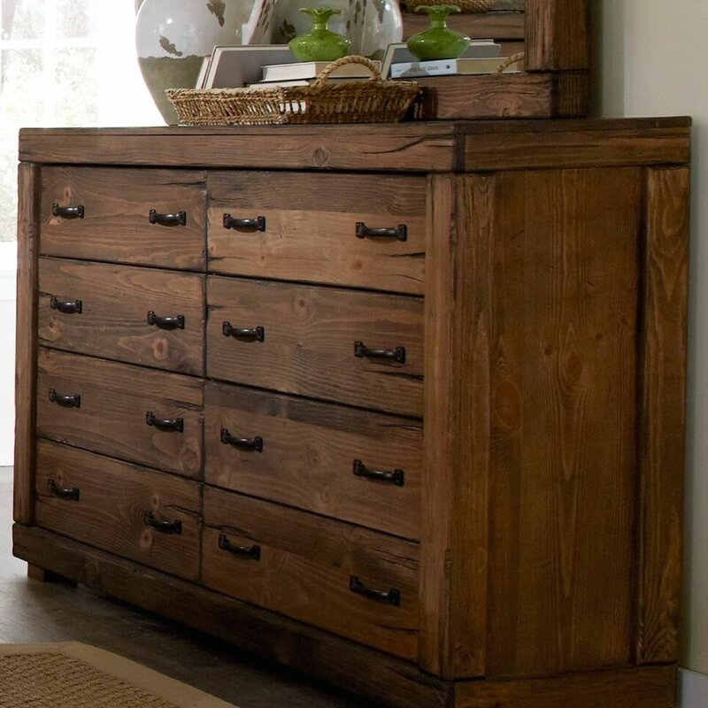 Amazing Hilton 8 Drawer Double Dresser With Mirror