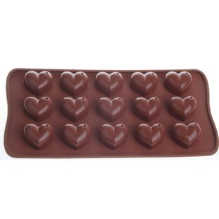 Non-Stick Cool Silicone Heart Chocolate Mould (Set of 2)