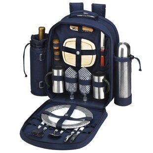 Freeport Park Coffee and Picnic Backpack Cooler for Two