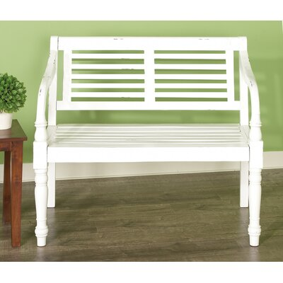Brilliant August Grove Great Bend Hall Wood Garden Bench Creativecarmelina Interior Chair Design Creativecarmelinacom