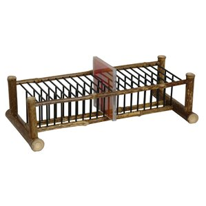 Japanese Bamboo Horizontal Multimedia Tabletop Storage Rack by Oriental Furniture