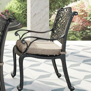 Dolly Patio Dining Chair with Cushion (Set of 2)